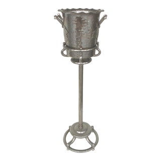 1940's Forged Aluminum Champagne Bucket Stand