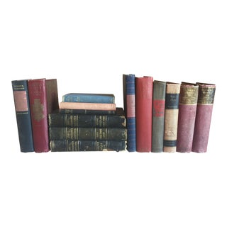 Collection of Red & Blue Antique Books