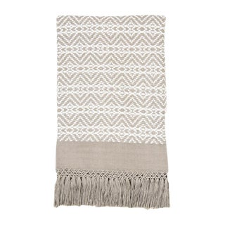 Taupe & White Handwoven Chiapas Throw