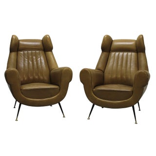 Italian Mid-Century Lounge Chairs - A Pair