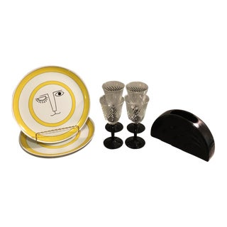 Art Deco Dinner & Drink Set - Set of 9