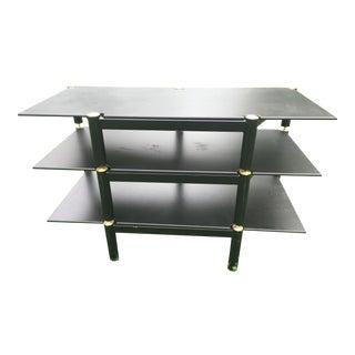 Mid-Century Black Brass 3-Shelf Unit