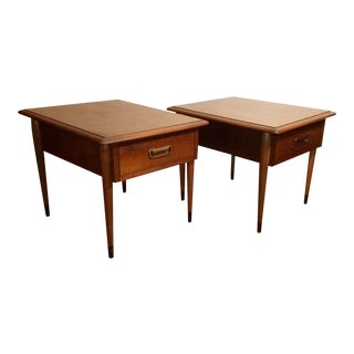 Mid Century Lane Side Tables - a Pair