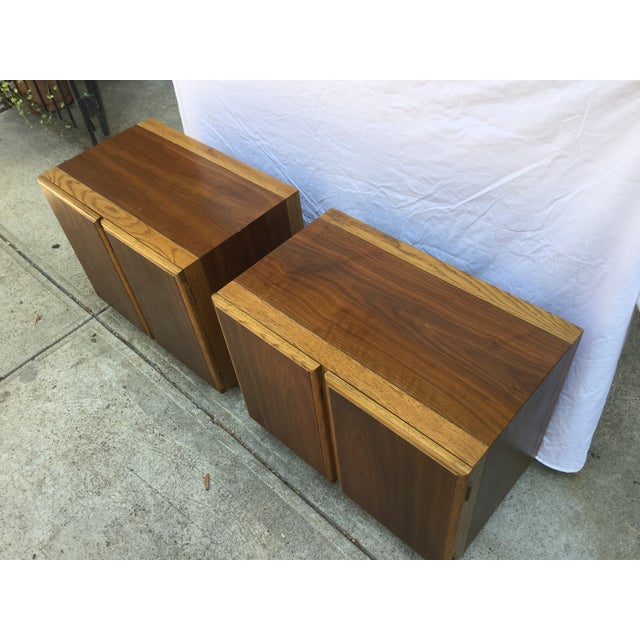 Image of 60's Mid-Century Modern Lane Night Stands - A Pair