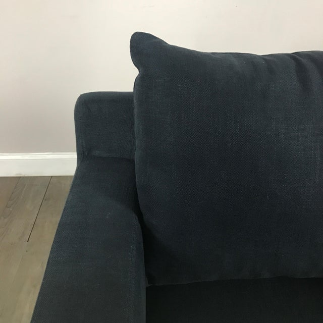 Modern Navy Chaise Lounge Sofa - Image 6 of 11