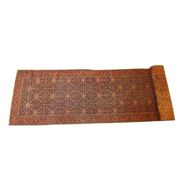 """Antique Persian Malayer Runner Rug - 15'5"""" x 3'2"""" - Image 1 of 4"""