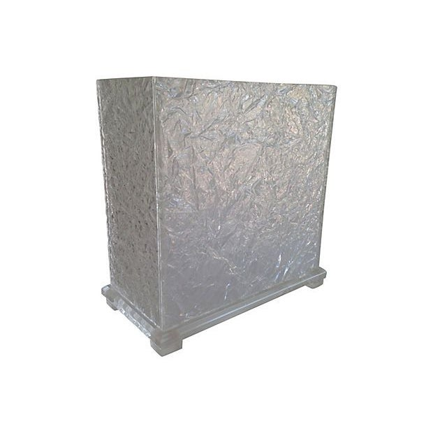 Lucite Ice Waste Bin - Image 1 of 6