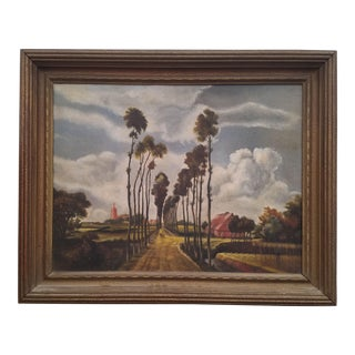 1930's Landscape Oil on Canvas