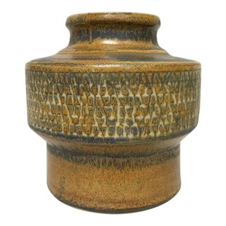 Erik Ploen Norway Scandinavian Modern Studio Pottery Stoneware Vase
