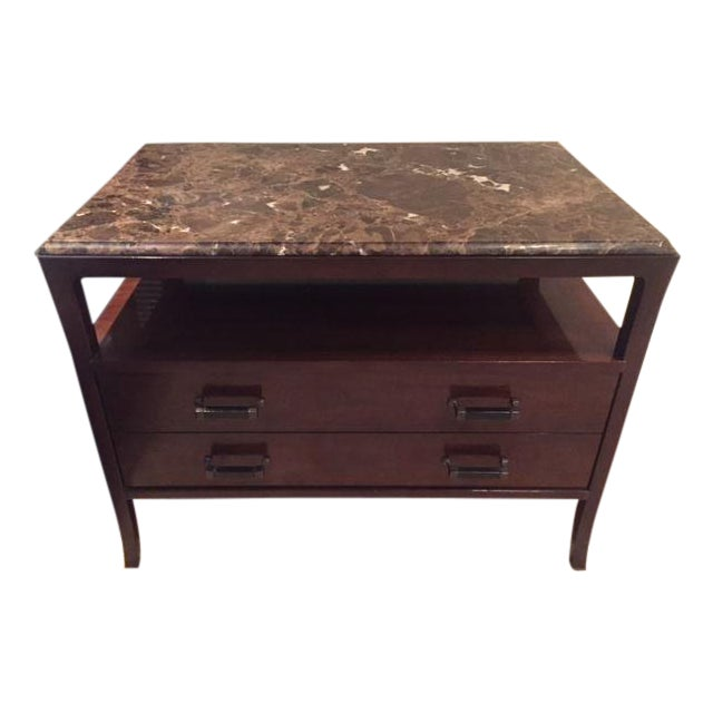 Baker Marble Top Chests - A Pair - Image 1 of 5