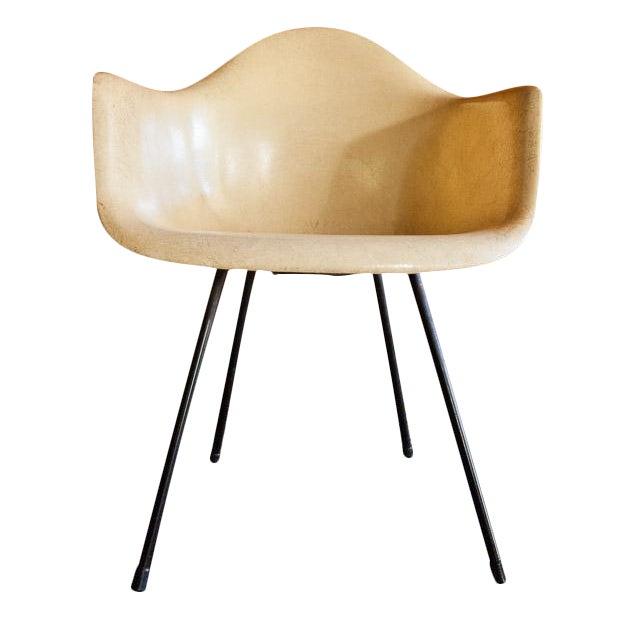 1950s Eames Venice Label Parchment Chair - Image 1 of 7