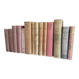 Antique Pastel Books - Set of 14
