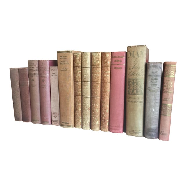 Antique Pastel Books - Set of 14 - Image 1 of 6