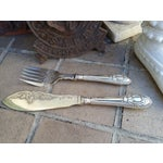 Image of Antique Silver Sheffield Fish Servers