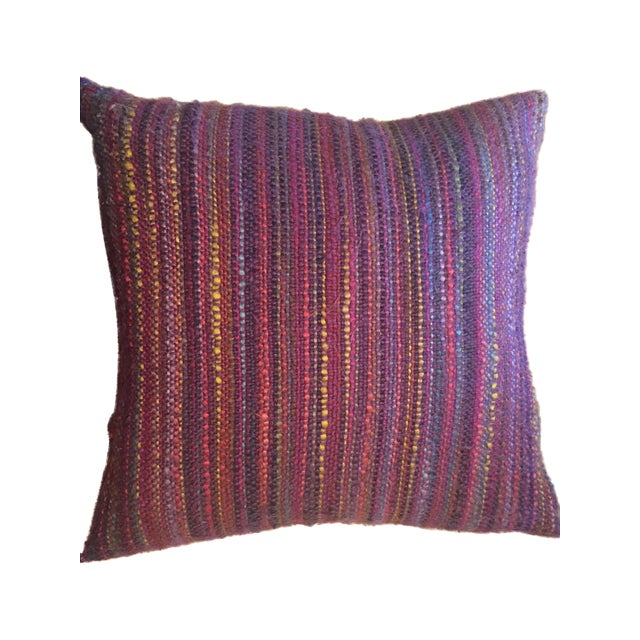 Multi-Color Yarn Pillow - Image 1 of 3