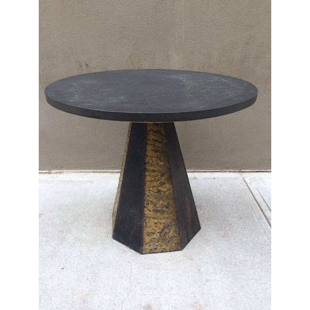 Paul Evans Round Slate Top Table - Image 2 of 7