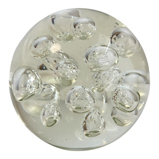 Murano Controlled Bubble Clear Paperweight