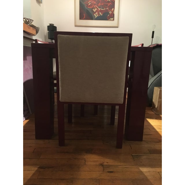 Abc Carpet & Home Extendable Dining Table & 4 Chairs - Image 5 of 8