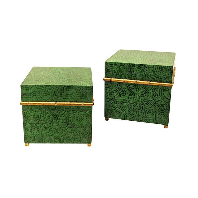 Faux Malachite Boxes - a Pair - Image 8 of 8