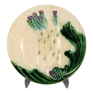Antique French Asparagus Plate, 6 Available