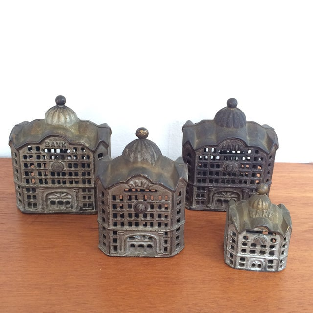 Antique Cast Iron Banks - Set of 4 - Image 2 of 8