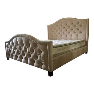 Z Gallerie Tufted Eastern King Nicolette Bed