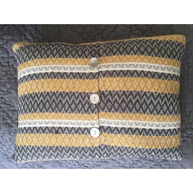 West Elm Silk Jacquard Hand-Woven Pillows - A Pair - Image 8 of 11