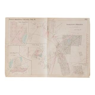 Vintage Hopkins Map of Yorktown Heights