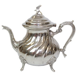 Vintage Moroccan Silver Plated Teapot
