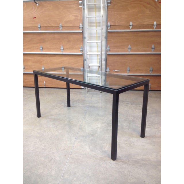 Room & Board Counter Height Steel Parsons Table - Image 2 of 4
