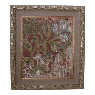 Rare Antique Buddhist Temple Painting Framed