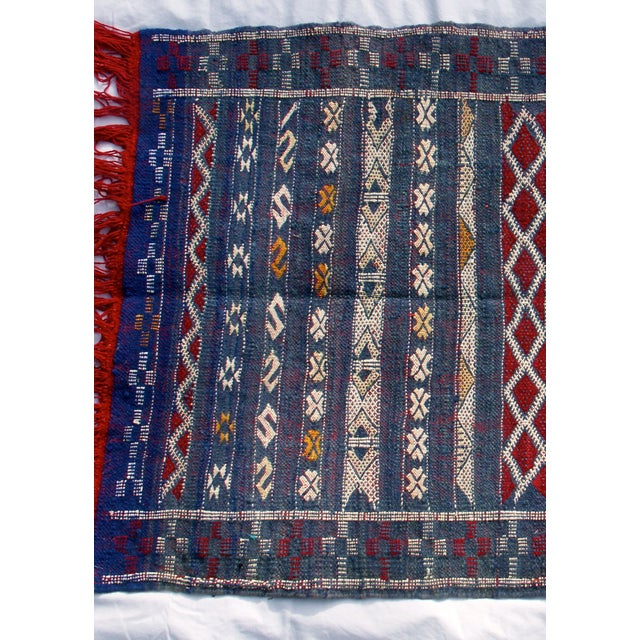 "Moroccan Berber Tribal Kilim Rug - 2' 7"" x 4' 2"" - Image 4 of 6"