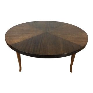 Mid-Century Walnut & Mahogany Coffee Table