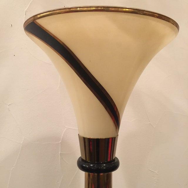 Image of Art Deco Torchiere Floor Lamp