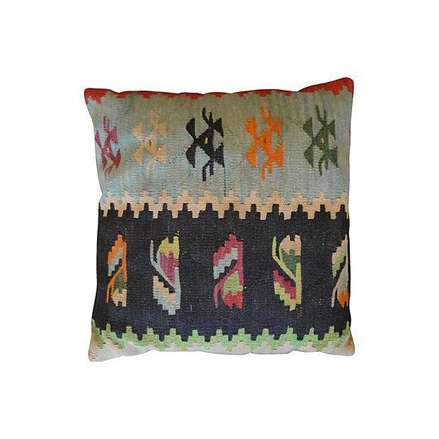Vintage Kilim Accent Pillows - A Pair - Image 3 of 5