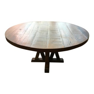 Reclaimed Round Wood Table