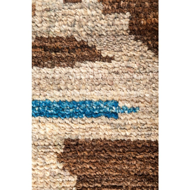 "Moroccan Hand Knotted Area Rug - 4'3"" X 4'6"" - Image 3 of 3"