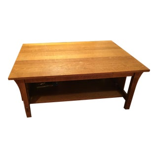 Stickely Oak Mission Coffee Table