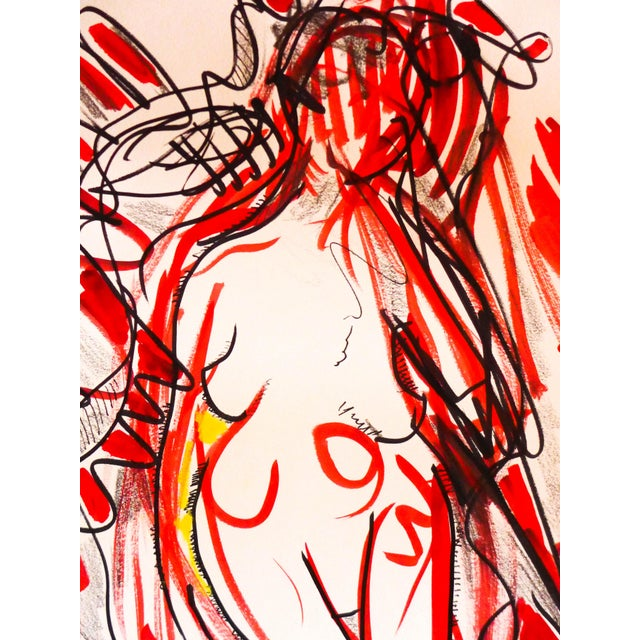Image of Nude Dancing to Music Drawing