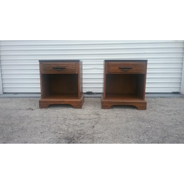 A. Brandt Ranch Oak Nightstands - A Pair - Image 2 of 11