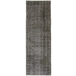 "Grey Overdyed Runner Rug - 2'6"" X 8'2"""