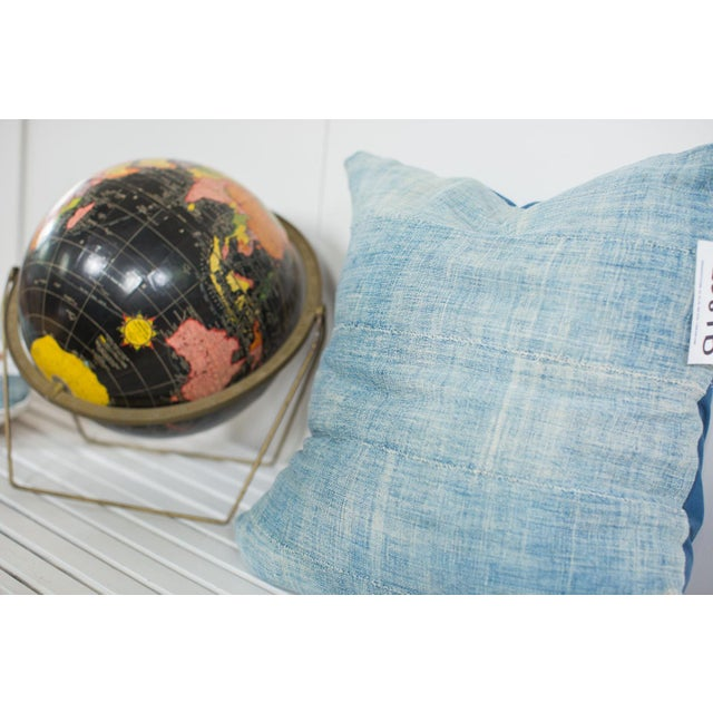 Vintage Light Blue Indigo Pillow - Image 3 of 5
