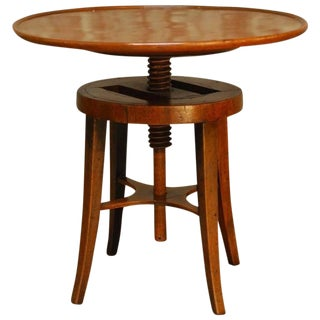 George III Mahogany Adjustable Height Screw Top Wine Table