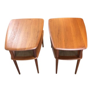 Peter Hvidt Vintage Danish Side Tables - a Pair