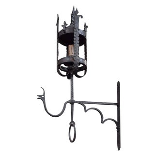 Argentine Wrought Iron Sconce from the Estate of Jose Thenee