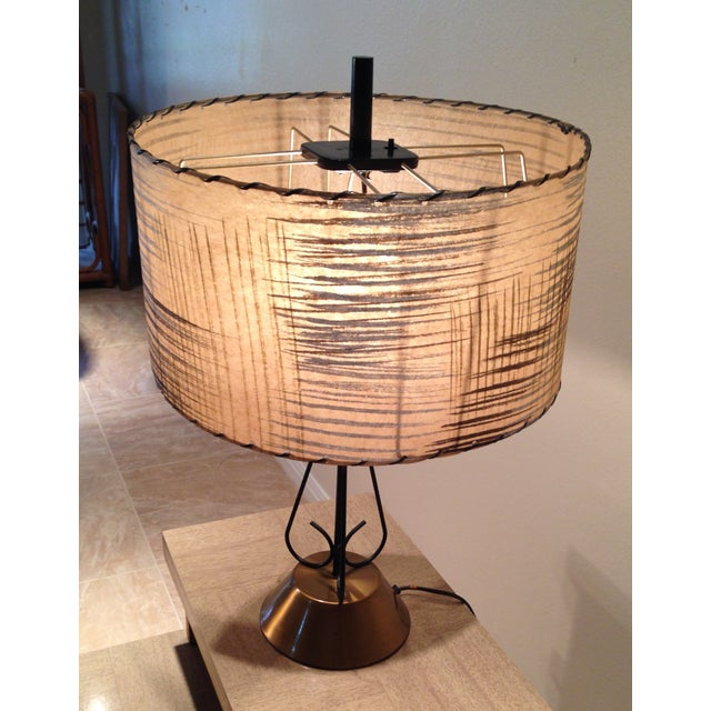 Atomic Era Wire and Brass Table Lamp - Image 6 of 7