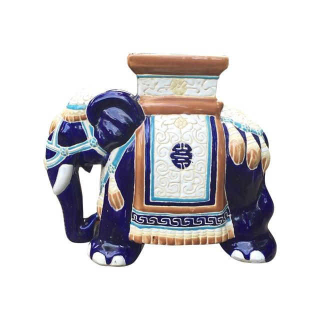 Vintage Petite Chinoiserie Elephant Stool - Image 1 of 8