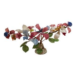 Vintage Glass Floral Arrangement