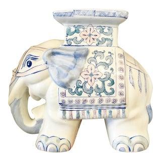 Table Top Blue & White Elephant Sculpture