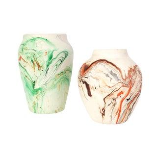 Vintage Nemadji Pottery Vases - A Pair